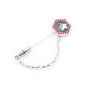 父の日 父親 贈り物 エヴァンゲリオン×SWANK NERVロゴラベルピン|mays-jewelry
