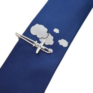 WEB会議 テレワーク クールビズ ギフト プレゼント SWANK タイピン&ネクタイセット 02(飛行機) mays-jewelry
