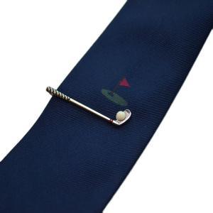 WEB会議 テレワーク クールビズ ギフト プレゼント SWANK タイピン&ネクタイセット06(ゴルフ) mays-jewelry