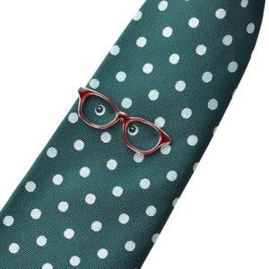 WEB会議 テレワーク クールビズ ギフト プレゼント SWANK タイピン&ネクタイセット09(眼鏡・緑) mays-jewelry