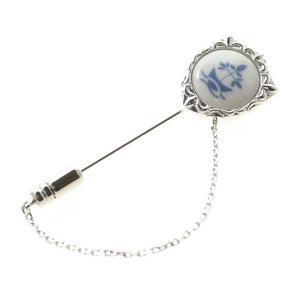 秋の装い 贈り物 SWANK & Royal Copenhagen スワンク & ロイヤルコペンハーゲン コラボ ラペルピン|mays-jewelry