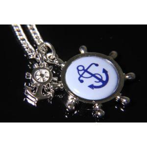 父の日 父親 贈り物 SWANK & Royal Copenhagen スワンク & ロイヤルコペンハーゲン コラボ イカリのネックレス(シルバーカラー)|mays-jewelry