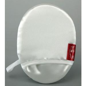 京都シルク【珠の肌パフ】 羽二重シルク100%美容パフ。 絹のアカスリ効果で美肌復活シルクパフ