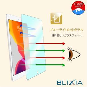 BLIXIA公式 【BLIXIA】 iPad 10.2インチ 第8世代 第7世代 ブルーライトカット9Hガラス保護フィルム 硬度9H 保護シート 画面割れ防止 目の疲れを軽減 Apple mayumi