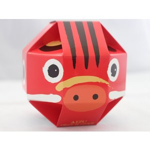 丸い形の赤べこが愛らしい  会津赤べこチョコインクッキー(10枚入)|mazassekorasse