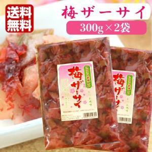 送料無料 梅ザーサイ(350g)2袋セット 梅 ザーサイ 搾菜 梅干し ご飯のお供 惣菜 漬物 おつ...