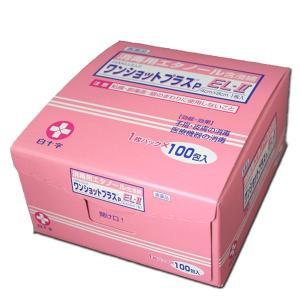白十字 ワンショットプラスP EL-II 1枚×100包入(エタノール含浸脱脂綿)|mb-web