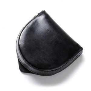 グレンロイヤル GLENROYAL 馬蹄型 コインケース BRIDLE LEATHER ブラック メンズ 03-6202|mb-y