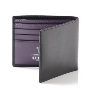 エッティンガー ETTINGER 二つ折り 財布 ロイヤルコレクション/パープルコレクション ブラック メンズ st030cjr-sterlingpurple|mb-y