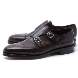 ジョンロブ JOHN LOBB ダブルモンクストラップ シューズ WILLIAM ウィリアム ラスト 9795 革靴 大きいサイズあり ブラウン メンズ|mb-y