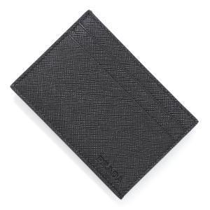 プラダ PRADA カードケース SAFFIANO サフィアーノ ブラック メンズ 2mc047-053-f0002 mb-y