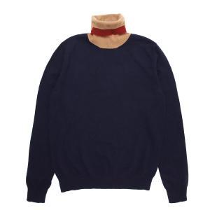 メゾンマルジェラ Maison Margiela ハイネック セーター 10 男性のためのコレクション ニット ブルー メンズ s30hb0235-s17555-003f|mb-y