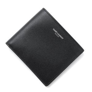 サンローランパリ SAINT LAURENT PARIS 二つ折り 財布 クラシック サンローラン ブラック メンズ 396307-bty0n-1000|mb-y