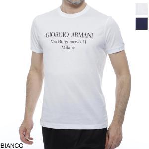 ジョルジオアルマーニ GIORGIO ARMANI クルーネックTシャツ 大きいサイズあり メンズ 3gst57-sjejz-u090|mb-y
