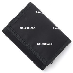 バレンシアガ BALENCIAGA 3つ折り 財布 小銭入れ付き EXPLORER SQUARE COIN WALLET スクエア コイン ウォレット ブラック メンズ|mb-y