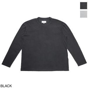 メゾンマルジェラ Maison Margiela クルーネック 長袖Tシャツ 10 男性のためのコレクション メンズ s50gc0627-s20079-900|mb-y