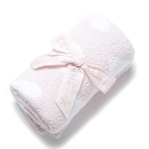 ベアフットドリームス BAREFOOT DREAMS ベビーブランケット ホワイト 531-pinkWHITE dream receiving blanket|mb-y