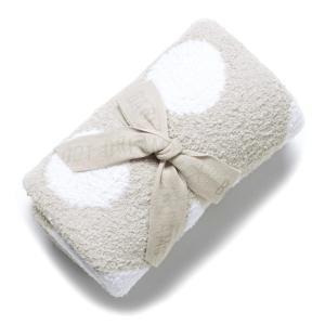 ベアフットドリームス BAREFOOT DREAMS ベビーブランケット dream receiving blanket グレー b531-28-ci-stone-white|mb-y