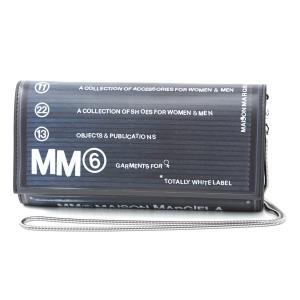 エムエム 6 メゾンマルジェラ MM6 Maison Margiela 長財布 小銭入れ付き  ブラック レディース s54ui0063-pr184-h1669|mb-y