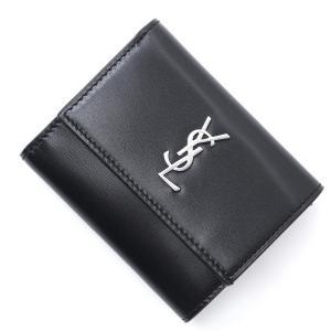 サンローランパリ SAINT LAURENT PARIS 3つ折り 財布 小銭入れ付き MONOGRAM モノグラム ブラック メンズ 556375-0sx0e-1000|mb-y