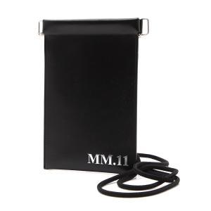 メゾンマルジェラ Maison Margiela スマートフォンポーチ 11 女性と男性のためのアクセサリーコレクション ドキュメントホルダー ブラック メンズ|mb-y