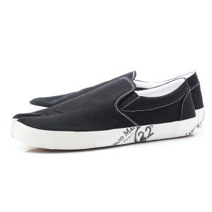 メゾンマルジェラ Maison Margiela スリッポン シューズ 22 女性と男性のための靴のコレクション TABI タビ スニーカー ブラック 大きいサイズあり メンズ|mb-y