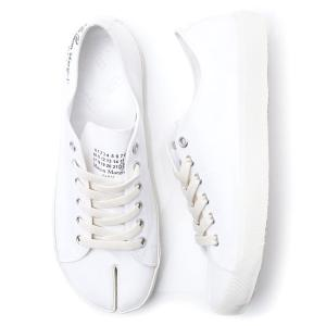 メゾンマルジェラ Maison Margiela スニーカー 22 女性と男性のための靴のコレクション TABI タビ ホワイト 大きいサイズあり メンズ s57ws0252-p1875-t1003|mb-y