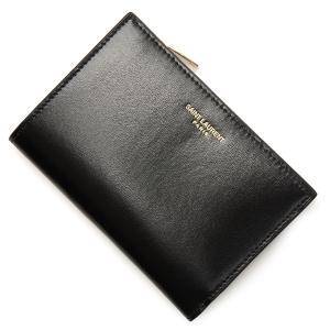 サンローランパリ SAINT LAURENT PARIS 2つ折り財布 小銭入れ付き ブラック レディース 580058-03p0j-1000|mb-y