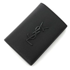 サンローランパリ SAINT LAURENT PARIS 2つ折り財布 CREDIT CARD WALLET ブラック メンズ 607052-bty0u-1000|mb-y