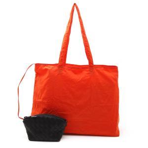 ボッテガヴェネタ BOTTEGA VENETA トートバッグ LIGHT PAPER NYLON ポーチ オレンジ メンズ 629238-vcqg2-7685|mb-y
