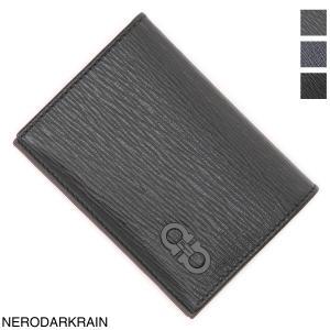 サルヴァトーレフェラガモ Salvatore Ferragamo カードケース CARD CASE 名刺入れ メンズ 66a062-0685949-nero-fjordblue|mb-y