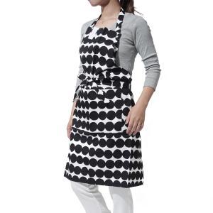 マリメッコ marimekko エプロン ブラック キッチン コットン プレゼント ギフト 67316-190 RASYMATTO|mb-y