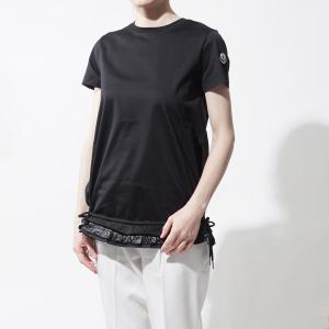 モンクレール MONCLER クルーネックTシャツ ブラック...