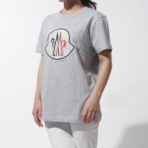 モンクレールガムルージュ MONCLER GAMME ROUGE クルーネック Tシャツ グレー レディース ギフト プレゼント カジュアル 8086600-829d4-906|mb-y
