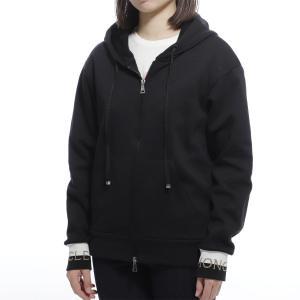モンクレール MONCLER ジップパーカ ブラック レディース 8459400-v8000-999|mb-y