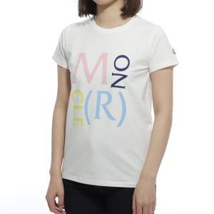 モンクレール MONCLER クルーネックTシャツ ホワイト レディース 8c72410-8790a-034|mb-y
