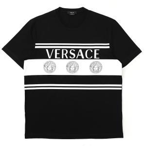 ヴェルサーチェ VERSACE クルーネック Tシャツ T-SHIRT MITCHEL FIT ブラック メンズ a87391-a235263-a1008|mb-y