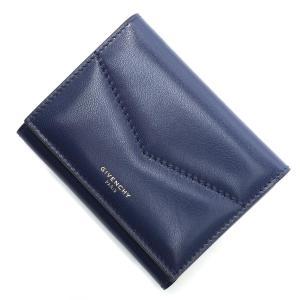 ジバンシー GIVENCHY 3つ折り財布 小銭入れ付き EDGE ブルー レディース bb6058b0cc-433|mb-y