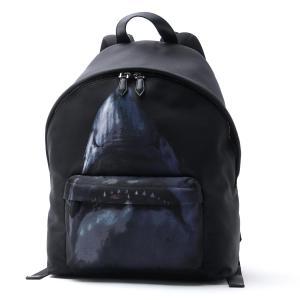 ジバンシー GIVENCHY バックパック シャークプリント リュックサック ブラック メンズ bk500fk045-960|mb-y