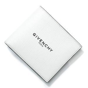 ジバンシー GIVENCHY 2つ折り財布 ホワイト メンズ bk6005k0n2-100|mb-y