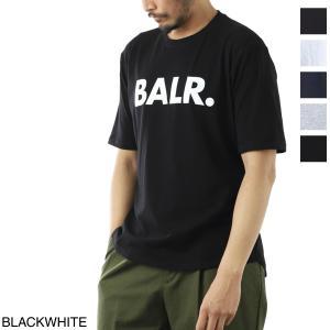 ボーラ― BALR. クルーネック Tシャツ BRAND T-SHIRT ATHLETIC FIT ブランド Tシャツ アスレチック フィット メンズ brand-shirt-black-white|mb-y