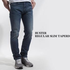 ディーゼル DIESEL ボタンフライ ジーンズ BUSTER REGULAR SLIM TAPERD ブルー メンズ buster-00sdhb-084tu|mb-y