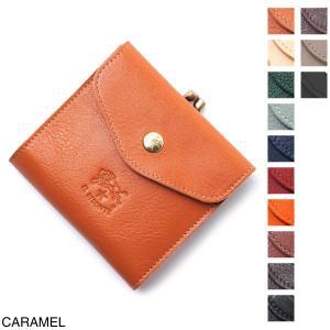 イルビゾンテ IL BISONTE 2つ折り財布 小銭入れ付き レディース c0423-p-145-caramel|mb-y