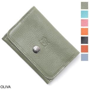 イルビゾンテ IL BISONTE カードケース 名刺入れ メンズ レディース c0470-b-ep-955-oliva|mb-y