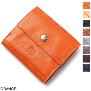 イルビゾンテ IL BISONTE 2つ折り 財布 小銭入れ付き  メンズ レディース c0910-p-166-orange|mb-y