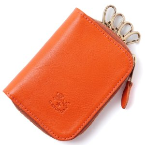 イルビゾンテ IL BISONTE キーケース オレンジ メンズ レディース c0991-p|mb-y