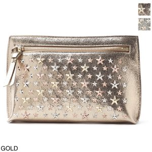 ジミーチュウ JIMMY CHOO ポーチ CORALIE コラリー レディース coralie-l-gta-gold-rosegold-metallic-mix|mb-y