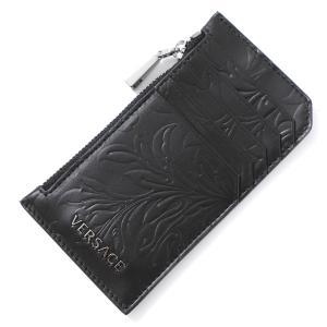 ヴェルサーチェ VERSACE カードケース CARD CASE VITELLO BAROCCO ブラック メンズ dp37855-dvba4-d41e|mb-y