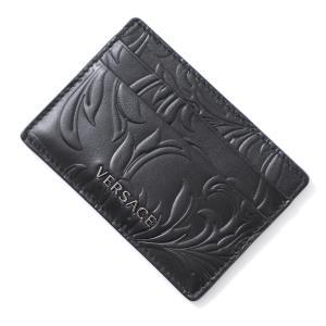 ヴェルサーチェ VERSACE カードケース PORTA C/CREDITO VITELLO BAROCCO ブラック メンズ dpn2467-dpba4-d41e|mb-y