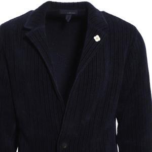 ラルディーニ LARDINI 2つボタン ニットジャケット KNIT JACKET ブルー メンズ illjm56-il53006-850|mb-y